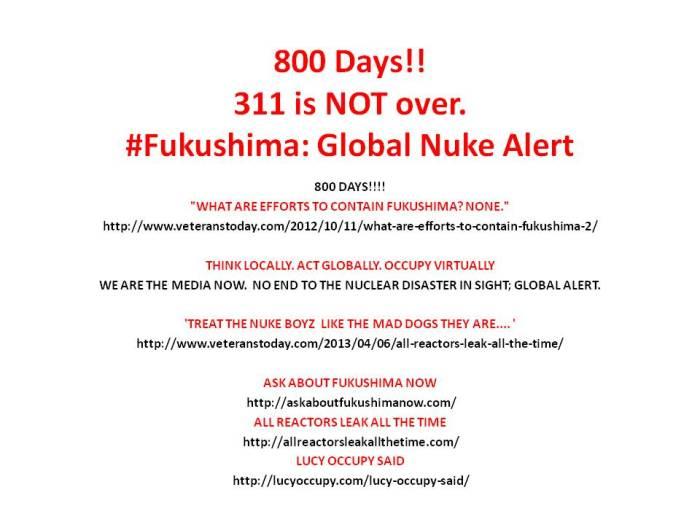 Fukushima 800 days  post