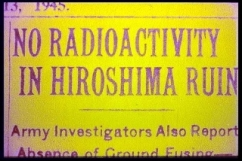 no radioactivity in hiroshima ruins