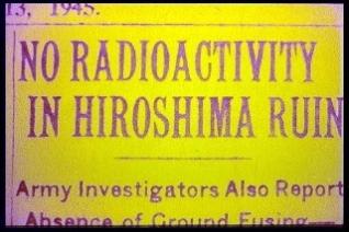 no radioactivity in hiroshima ruins