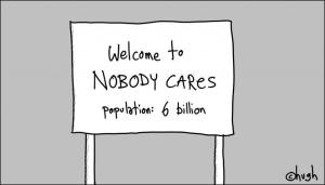 nobody cares 6 billion population tic toc