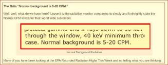 background radiation 5 - 20 more in YRTW 11