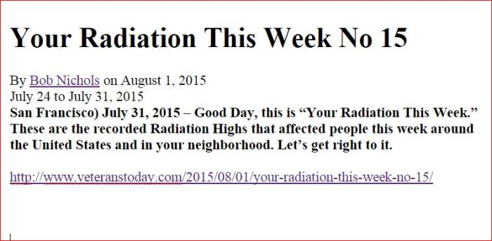 Your Radiation This Week  15