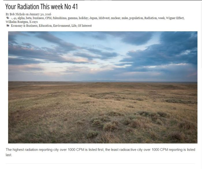 Your Radiation This Week No 41