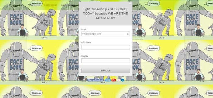 sign up form FIGHT CENSORSHIP SUBSCRIBE TODAY